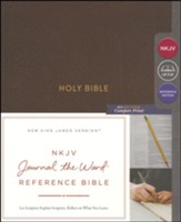NKJV Comfort Print Journal the Word  Reference Bible, Imitation Leather, Brown