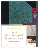 NKJV Comfort Print Journal the Word  Reference Bible, Imitation Leather, Blue