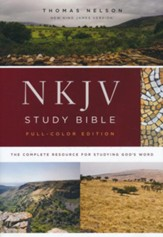 NKJV Comfort Print Full Color Study Bible, Hardcover