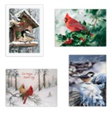Assorted Birds Christmas Cards, Box of 12