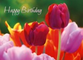 Beautiful Flowers Birthday Cards, Box of 12