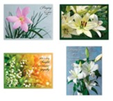 Lilies Sympathy Cards, Box of 12