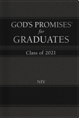 NIV God's Promises for Graduates, Class of 2021--hardcover, black