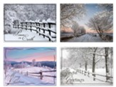 Country Lane Christmas Cards, Box of 12