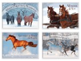 Horses in Winter Christmas Cards, Box of 12