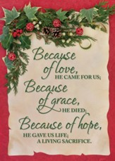 Because of Love, Box of 12 Christmas Cards (KJV)