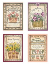Flower Baskets, Birthday Cards, Box of 12