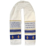 Lord's Prayer Prayer Shawl Blue / Gold