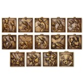 Solid Brass Stations of the Cross, Set of 14 Plaques