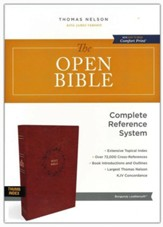 The KJV Open Bible, Comfort Print--soft leather-look, burgundy (indexed)