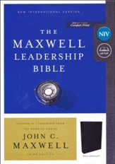 NIV, Maxwell Leadership Bible, 3rd Edition, Leathersoft, Black, Comfort Print