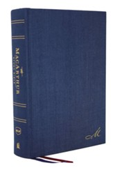 NKJV MacArthur Study Bible, Comfort  Print--cloth over  board, navy blue