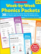 Week-by-Week Phonics Packets:  Independent Practice Packets That Help Children Learn Key Phonics Skills