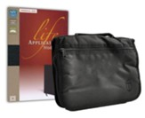 NIV Life Application Bible, Personal Size--bonded leather, black with canvas cover
