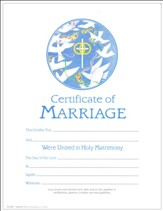 Certificate of Marriage, Pack of 25