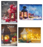 Christmas Lanterns, Box of 12 Assorted Christmas Cards (KJV)