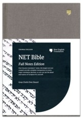 NET Comfort Print Bible, Full-Notes Edition--clothbound hardcover, gray