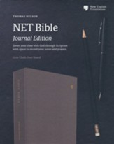 NET Comfort Print Bible, Journal Edition--clothbound hardcover, gray