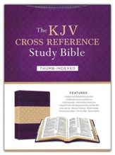 The KJV Cross Reference Study Bible - Imitation Leather, indexed (feminine)
