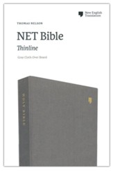 NET Comfort Print Thinline Bible--clothbound hardcover, gray