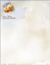 Sing, Give Thanks, Remember (Psalm 30:4, KJV) Letterhead, 100