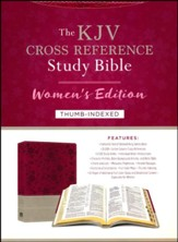KJV Cross Reference Study Bible, Women's Edition--soft leather-look, floral berry/gray (indexed)