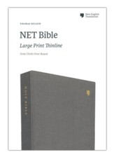 NET Large-Print Thinline Bible--clothbound hardcover, gray
