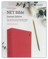 NET Comfort Print Bible, Journal Edition--clothbound hardcover, coral