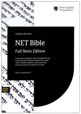 NET Comfort Print Bible, Full-Notes Edition--soft leather-look, black (indexed)