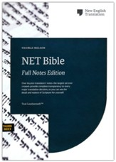 NET Comfort Print Bible, Full-Notes Edition--soft leather-look, teal (indexed)