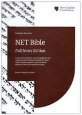 NET Comfort Print Bible, Full-Notes  Edition--genuine  leather, brown