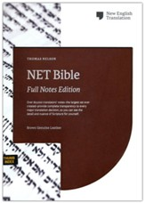 NET Comfort Print Bible, Full-Notes Edition--genuine leather, brown (indexed)