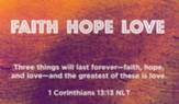 Children and Youth, Pass Along Scripture Cards, Faith Hope Love, 1st Corinthians 13:13, Pack of 25