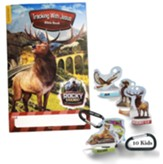 Rocky Railway: Bible Memory Buddies + Carabiners + Tracking with Jesus Bible Books, enough for 10 kids