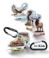 Rocky Railway: Bible Memory Buddies + Carabiners (enough for 50 kids)