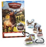 Rocky Railway: Bible Memory Buddies + Carabiners + Tracking with Jesus Bible Book (enough for 50 kids)