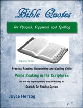 Bible Quotes for Phonics, Copywork and Spelling