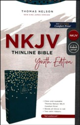 NKJV, Thinline Bible Youth Edition, Leathersoft, Blue, Comfort Print
