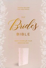 KJV Bride's Bible, Leathersoft, White, Comfort Print