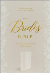NKJV, Bride's Bible, Leathersoft, White, Comfort Print