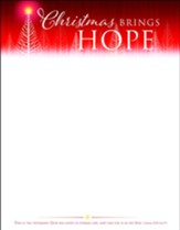 Christmas Brings Hope (1 John 5:11, NIV) Letterhead, 100