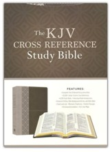 KJV Cross Reference Study Bible-soft leather-look, stone