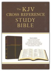KJV Cross Reference Study Bible  Compact, Imitation Leather, Mahogany Cross
