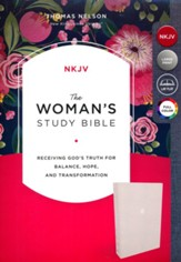 NKJV Woman's Study Bible--cloth over board, cream