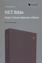 NET Bible, Single-Column Reference, Comfort Print , Cloth over Board, Gray