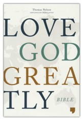 NET Love God Greatly Bible--cloth over board, pink