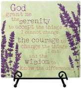 Serenity Prayer Easel Plaque