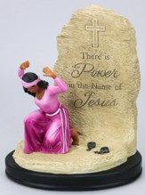 There Is Power In the Name of Jesus Figurine