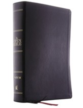 NIV Open Bible, Comfort Print--soft leather-look, black (indexed)