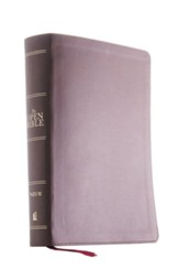 NIV Open Bible, Comfort Print--soft leather-look, brown